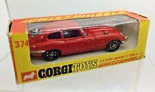 Vintage Corgi Toys 374 Jaguar E Type 2+2 Whizzwheels Red Edition Boxed