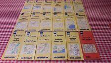 Lot complet 17 cartes Michelin des régions de la France + carte de la Suisse