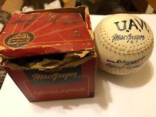 Old Vintage MacGregor Official Softball w Original Box c.1950's 60's