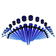36Pcs Acrylic Stainless Steel 14G-00G Tapers + Plugs Ear Gauges Stretching Kits