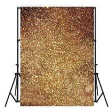 3X5ft Golden Glitter Thin Background Photography Photo Backdrop Studio Prop