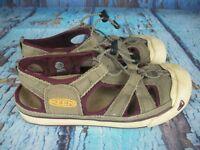 KEEN Newport Brown/Burgundy Burlap Fisherman Sport Sandals Shoes Women's Size: 8