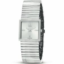Calvin Klein CK K5623138 Silver Tone Sapphire Crystal Swiss Made Women's Watch