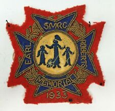 More details for 1933 earl roberts memorial smrc society miniature rifle embroidered cloth badge