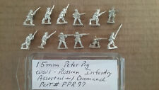 15mm Peter Pig Russian  WWI Infantry assorted Poses w Command