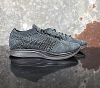 Nike Flyknit Racer Triple Black Anthracite Running Shoe 526628-009 Mens Sz 7