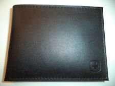 Swiss Army Genuine Leather Billfold Wallet,Black