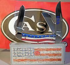 Case XX Star Spangled Smooth Natural Bone Sowbelly Knife NEW