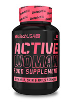 BioTech USA ACTIVE WOMEN 60 Tab Multi Minerals & Vitamins For Woman- Nail & Skin