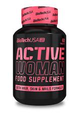 BioTech USA ACTIVE WOMEN 60 Tab Multi Minerals & Vitamins For Woman- Nail & Skin