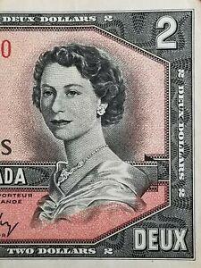 💵 1954 CANADA $2 Two Dollar  Bill - Deux Dollars #22a