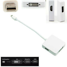 Mini DisplayPort Male vers DVI HDMI DP Female Blanc Adaptateur pour macbook 3in1