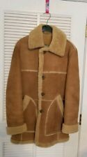 Vintage Classic MARLBORO MAN Sheepskin Shearling Coat Jacket USA Lakeland 42