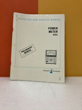 Hp Power Meter 435a Preliminary Operating Amp Service Manual