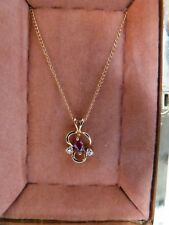AMETHYST PENDENT & CHAIN 14ct