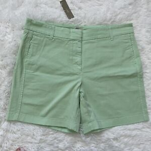 """New with Defects J Crew 7"""" Chino Shorts Mint Green 12 Womens H5809"""