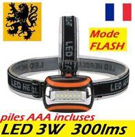 lampe frontale LED 3W 300lm lampe de poche camping running esthétique maquette