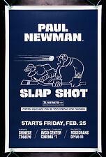 SLAP SHOT * CineMasterpieces ORIGINAL MOVIE POSTER HOCKEY L.A. ADVANCE 1977