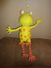 """Monster Not So Scary Polly Jolly 2011 Yellow Orange Toy Factory 18"""" Stuffed Plus"""