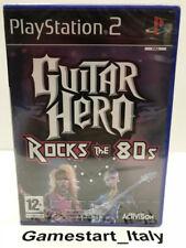 GUITAR HERO ROCKS THE 80'S - PS2 - NUOVO SIGILLATO NEW SEALED PAL VERSION