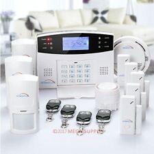 HOMSECUR LCD Wireless GSM SMS Autodial Security Burglar Intruder Alarm System