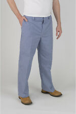 """More details for faithful blue check chef trousers – 88cm (34"""") tall"""