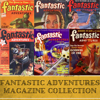 Fantastic Adventures SF|129 Science Fiction Pulp Magazines Collection Data-DVD