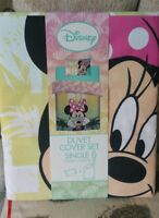 DISNEY MINNIE MOUSE SINGLE DUVET SET QUILT COVER GIRLS BEDDING BNWT ONLY 4 LEFT