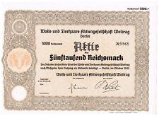 Wolle und Tierhaare AG Wotirag Berlin 1941, 5000 RM