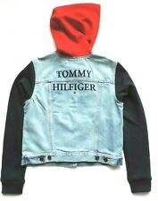Tommy Hilfiger Womens Logo Fleece Denim Jacket