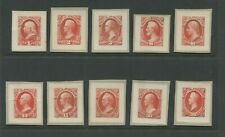1873 Roosevelt Collection US Official Dept. of Interior Plate Proof Set