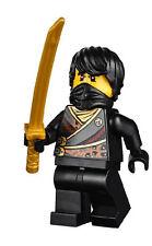 LEGO Ninjago 70723 Black Ninja Cole Rebooted with Sword Minifigure NEW D33