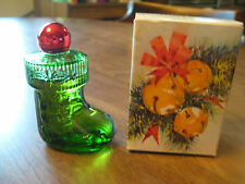 Vintage Avon Christmas Surprise Santa Boots With Cologne & Orginial Box