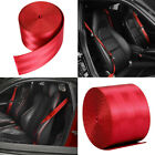 Car Seat Belt Webbing Polyester Seat Lap Retractable Nylon Safety Strap Red 3.6M