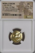 Mysia, Cyzicus Sphinx n Tunny Stater NGC VG Ancient Gold Coin