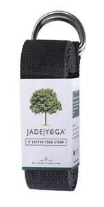 Yoga Strap Jade Yoga Stretching Fitness Pilates Exercise D Ring 8ft Cotton Belt