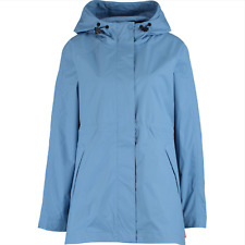 Hunter Packable Smock Rain Jacket Light Blue Size  L Hooded Wind Lightweight