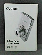 CANON PhotoShot ELPH 180 NEW in Box with Factory items AND + 2 BONUS ITEMS!!!