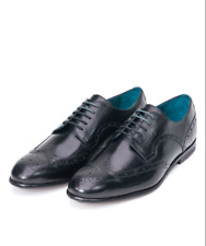 TED BAKER MENS LARRIY DERBY BLACK LEATHER LACE-UP SHOES £150