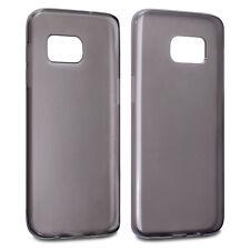 Clear Black TPU Gel / Rubber Case for Samsung Galaxy S7 Edge