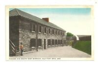 PARADE AND SOUTH EAST BARRACK, OLD FORT ERIE, ONTARIO, CANADA VINTAGE POSTCARD.