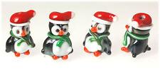 10 Handmade Christmas Lampwork Glass Beads Penguins