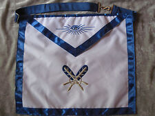 Masonic Secretary Officer Apron Freemason Blue Lodge Fraternity NEW!