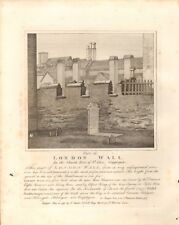 1792 ANTIQUE PRINT- ARCHITECTURE- PART OF OF LONDON WALL, CRIPPLEGATE