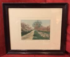 "Original Wallace Nutting ""Honeymoon Blossoms"" hand signed  4.5"" x 6.5"""