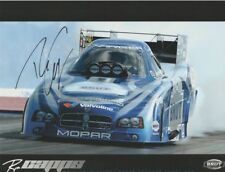 2007 Ron Capps signed Brut Revolution Dodge Charger Funny Car NHRA postcard