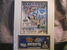 SUPERBOWL 46   TOM BRADY  PHOTO AND 1ST DAY COVER   2/01/2015  3 TIME SB MVP