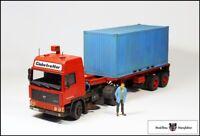 "Volvo F12 Gespann ""Containertransport"" + Figurenset -  Spur 1"