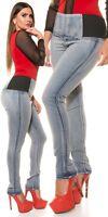 Curvy Girls Damen KouCla High Waist Jeanshose Skinny Jeans Hose