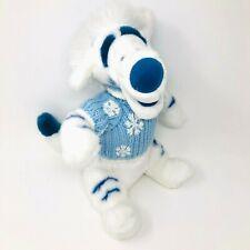 "Disney Store Exclusive White Tigger 14"" Plush Winnie the Pooh Blue Snow Sweater"